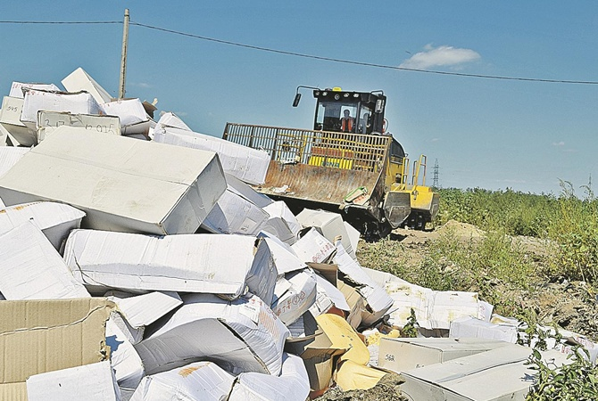 Навіщо в Росії знищують продукти, що потрапили під санкції?