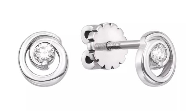 Сережки с бриллиантами: сдержанная роскошь